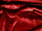 Burgundy Faux Fur Fabric Material / FREE DELIVERY