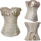 Sexy Creamy Ivory Luxury Renaissance Wedding Lace up Corset Bustier TOP Outfit