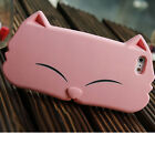 3D CAT CUTE SOFT SILICONE CASE RUBBER COVER BACK SKIN FOR APPLE IPHONE 5 5G 5S