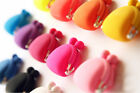 Colorful Candy Girl Rubber Cute Colorful Silicone Coin Bag Purses Wallets