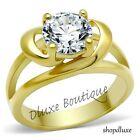 2.0 Ct Round Brilliant Cut CZ 14k Gold Plated Engagement Ring Women's Size 5-10
