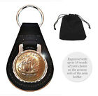 Personalised Engraved Coin Keyring Key Fob Birthday Birth Date Year Half Penny