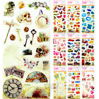 Vintage Crystal Computer Phone Scrapbooking Stickers Love Car Skull Picnic CR002