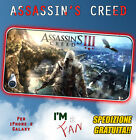 Cover Assassin's Creed per iPhone 3 4 5 6 6+ Galaxy S5 S4 S3 S2 S MINI Note 4 3