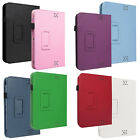 """Leather Stand Case Cover For Amazon Kindle Fire HD 7 7"""" Tablet With Sleep Wake"""