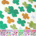 Mini Glitter Sparkle Computer Phone Scrapbooking Stickers Clover Butterfly FL002