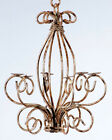 Wrought Iron Country Candle Chandelier - Small for the Little Spaces, Candelabra