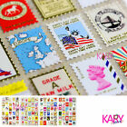 Vintage Style Stamp Design Gold Color Computer Phone Scrapbooking Stickers FL004