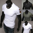 Trendy Men's Slim Fit Short Sleeve Round Neck Casual T-Shirt Base Shirt