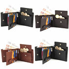 EX LARGE MENS SOFT LEATHER WALLET 15XCARDS 1XCOIN PURSE 2XNOTES 1XZIPPED POCKET