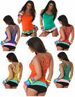 Sexy new ladies fit clubwear lace party top sleeveless top  (6,8,10,12) size UK