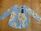 MARKS AND SPENCER BLUE FLOWER PRINT LONG SLEEVED BLOUSE TOP TUNIC 3 4 YEARS