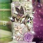 S31 Luxury Bling Crystal Purple Tinkerbell Fairy Case for iPhone 4 / 4S / 5