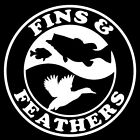 Fins and Feathers Decal VH0014 Fishing Truck/Boat Vinyl Stickers