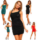 Sexy Women Clubbing Ruched Party Mini Dress With Beads Evening Dress UK 8/10/12