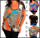 Ladies Batwing Lace Tribal Blouse Summer Party Vest Shirt Womans Plus Size Top