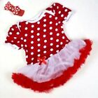 Baby Toddler Infant Ruffles Tutu Romper Jumpsuit Dress One-Piece Outfit Headband