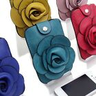 Lady Cute Camellia Cell Phone Key Purse Handbag Card Case Bag Flower Pouch E624