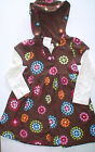 NWT GYMBOREE WINTER CHEER BROWN DOT FLOWERS DRESS CHRISTMAS  XMAS