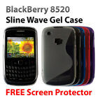 S-LINE WAVE SILICONE GEL CASE FOR BLACKBERRY CURVE 8520 + FREE SCREEN PROTECTOR