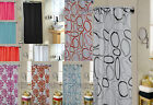 100% Polyester Floral Shower Curtain + Free 12 Rings, Size 180 x 180cm 10 Colors