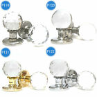 Clear Faceted Crystal Glass Mortice Internal Bedroom Kitchen Door Knobs
