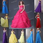 COLORFUL LONG MAXI Wedding Party Bridesmaid Gown Evening Prom Ball Formal Dress