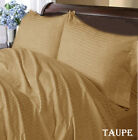 TAUPE STRIPE WATERBED SHEET 1000TC 100% EGYPTIAN COTTON SELECT SIZE FREE SHIP