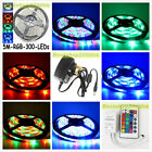 5M 3528 SMD 300 LEDs RGB 60leds/m Waterproof Flexible Strip Lights 12V Party UK