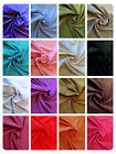 "100% Cotton Linen Look Fabric Dress Material - 17 Colours -58"" (145cm) Wide"