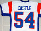CUSTOM NAME & # BLUE MOUNTAIN STATE JERSEY WHITE NEW ANY NAME, #, ANY SIZE