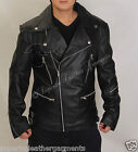 Mens Biker Faux Leather Vintage Retro Classic Brando Motorcycle Jacket BNWT