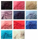 "100% Cotton Jersey Dress T-Shirt Fabric - 160cm (63"") Wide- 11 Colours"