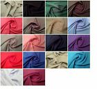"Polyester Bi-Stretch Panama Suiting Dress Fabric - 147cm (58"") Wide -22 Colours"