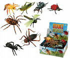 Giant Plastic Insects Toy 6 - 8 Inch Long Flying Bugs Spider Wasp Haloween