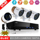 ELEC® 1500TVL HDMI 8CH DVR CCTV Home Night Vision Security Camera System Outdoor
