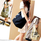 Lady Women Canvas Large Simple Casual Shoulder Backpack Cross Bag M1135