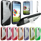 SAMSUNG GALAXY S4 Case i9500 Soft Jelly TPU Gel Slim Skin Cover+SCREEN PROTECTOR