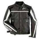 Ducati Twin Leather Motorcycle Jacket by Dainese Perforated sz 50 Euro
