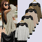 Sexy Ladies Gauze Sheer Backless Long Sleeve Shirt Blouse Soft Fur Sweater Tops