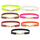 Braided Hook Buckle Stretchy Thin Cinch Belt Waist Band for Women