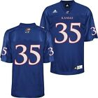 adidas Kansas Jayhawks Home #35 Football Jersey