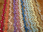 "Embroidered on Sheer 1/2"" Ric Rac SEED Glass BEADS Petite TRIM 1yd DOLL Hairband"