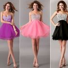 Strapless Bridesmaid Crystal Party Gown Prom Homecoming Evening Short Mini dress