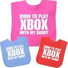 Baby Clothes XBox Daddy Cotton Velcro Bibs Feeding Slogan Girls Boys Shower Gift