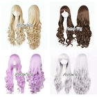 80cm 4 Colors Long Curly Lady Gurl Party Fashion Cosplay Anime Wig With Bang