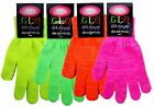 New Neon Glitter Glo Magic Gloves With Lumix Thread Available In 4 Colours BNWT