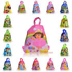 1PCS Princess,Dora,Spiderman,Mario kids Drawstring Backpack School Handbags gift