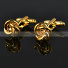 Mens Womens Shirts Silver Gold Color Knot Cufflinks  Weeding Cuff Link