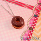 FUNKY DONUT NECKLACE CUTE KITSCH KAWAII RETRO POP FASHION JUNK FOOD RING STYLE